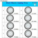Draw Hands-Analog Time