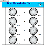 Draw Hands-Digital Time
